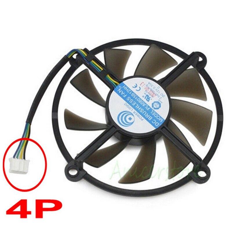 1 Pièce 85 MM DC Brushless 2 Roulement À Billes 12 V 0.35A 4 Pin Refroidisseur Ventilateur Pour Cartes Graphiques Galaxy GTS 250 450