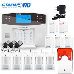 GSM Alarm System Wireless 433MHz Englisch Russisch Spanisch Französisch Italienisch Sprache Tür Öffnen Detektor Motion Sensor Alarm