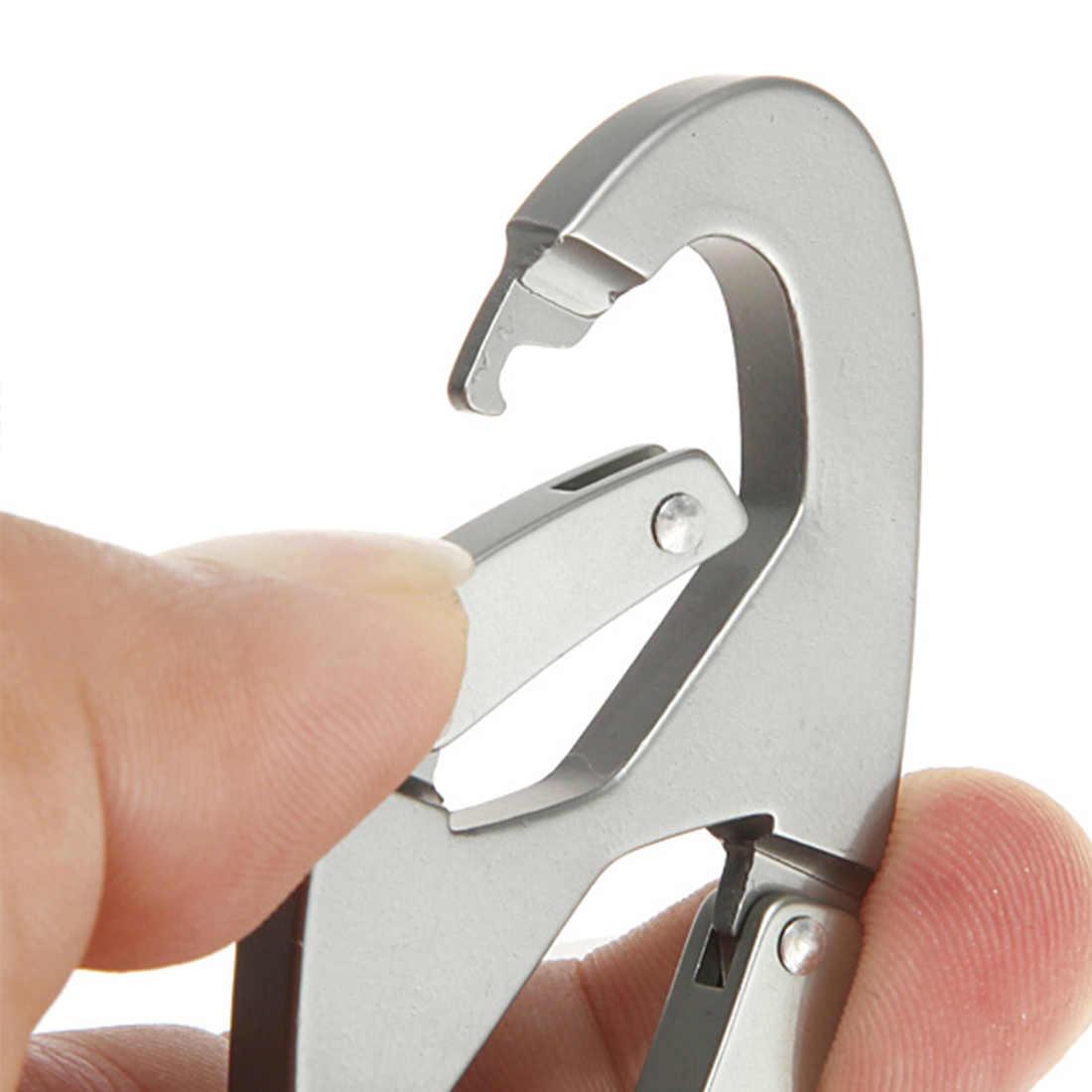 חדש סגסוגת אלומיניום Carabiner Keychain הצמד הוק קליפ mosquetones טיולי טיפוס קמפינג חיצוני ספורט אבזם משלוח חינם
