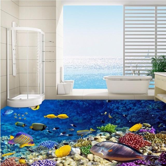 Free Shipping custom Underwater World Aquarium 3D Flooring ...