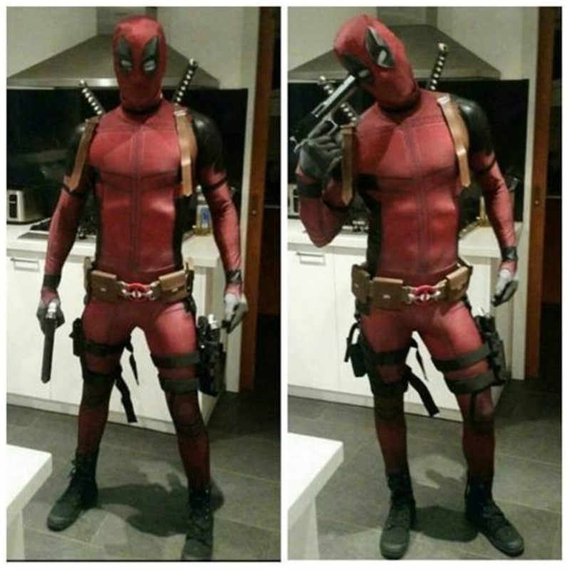 Anime Wade Winston Wilson Cosplay Unisex Merah Full Body Spandex Anak Dewasa Zentai Bodysuit Deadpool Halloween Fancy Dress Kostum