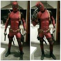 Anime Wade Winston Wilson cosplay Unisex Red full body spandex Boy Adult Zentai bodysuit Deadpool Halloween fancy ball costumes