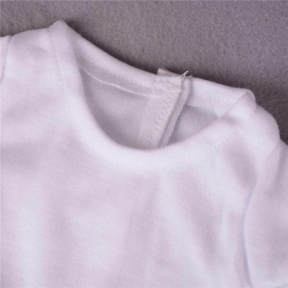2 ピース/セットカジュアルtシャツパンツ衣装女の子服セットフィット 18 インチ私たちの世代の人形アクセサリー