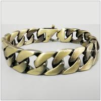 22cm*15mm 78g Vintage 316L Stainless Steel Antique Bronze Bracelets Bangles For Men Boy.New Fashion Clasicc Jewelry