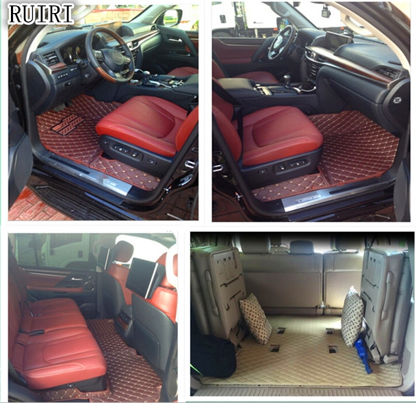 High quality! Special car floor mats + Trunk mat for Lexus LX 470 7 Seats 2008-1998 durable carpets for LX470 2005,Free shipping