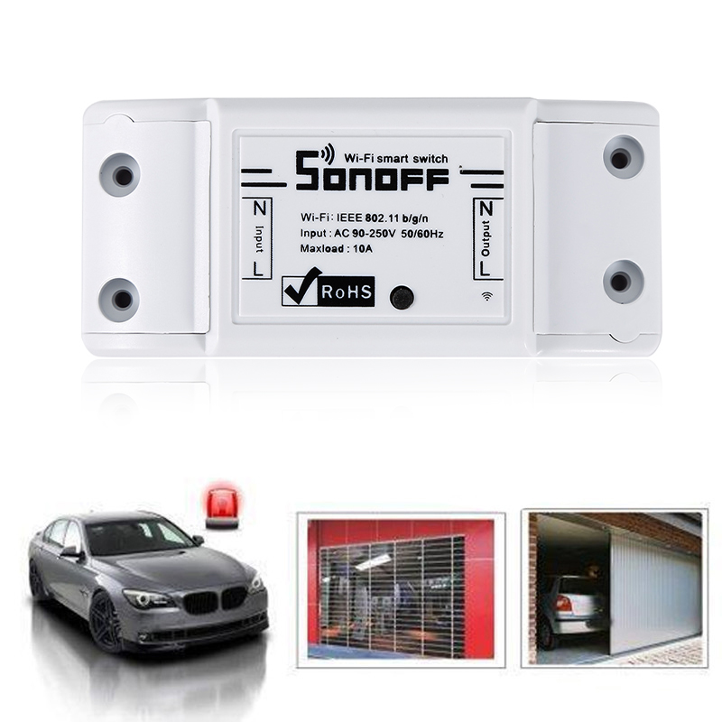 Hot Sonoff Wifi Wireless Switch Smart Home Automation Module Timer DIY wifi Remote Controller Via IOS Android 10A/2200W itead sonoff pro smart home wireless remote control wifi switch intelligent timer switch diy switch 10a 2200w via android ios