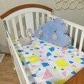 2016 nueva lindo bebé ropa de cama cuna de la historieta hoja de cuna cuna Junior cama de bebé cuna colchón sábanas ajustables del árbol nubes modelo de estrellas