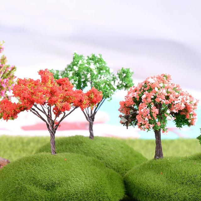 1PC Mini Tree Artificial Garden Miniature Resin Craft Home Decoration Micro Landscape Bonsai Plant 2