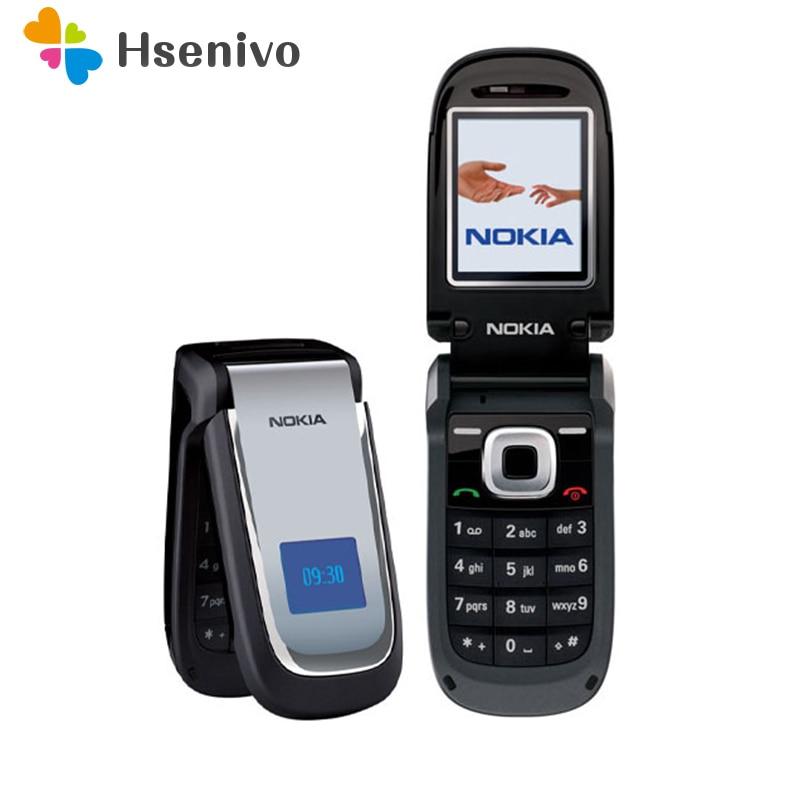 2660 100% Original Unlocked Nokia 2660 Flip 1.85' Inch GSM Mobile Phone 2G Phone With Bluetooth FM Radion  Free Shipping