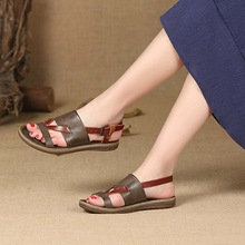 Female Slippers Bottom-Shoes Women's Sandals Casual Summer Wild Retro Soft Personality