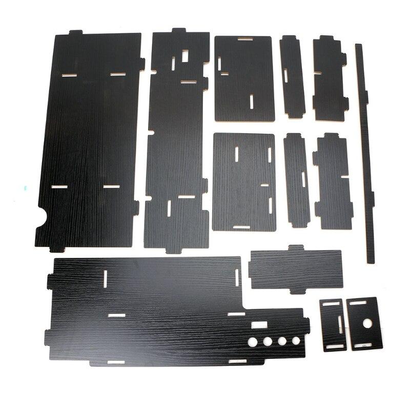 Черный Деревянный монитор стояк тв стойка стол органайзер место для хранения компьютера ноутбука