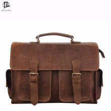 New Brand Coffee Crazy Horse Genuine Leather Retro Classic font b Men b font Handbag Shoulder