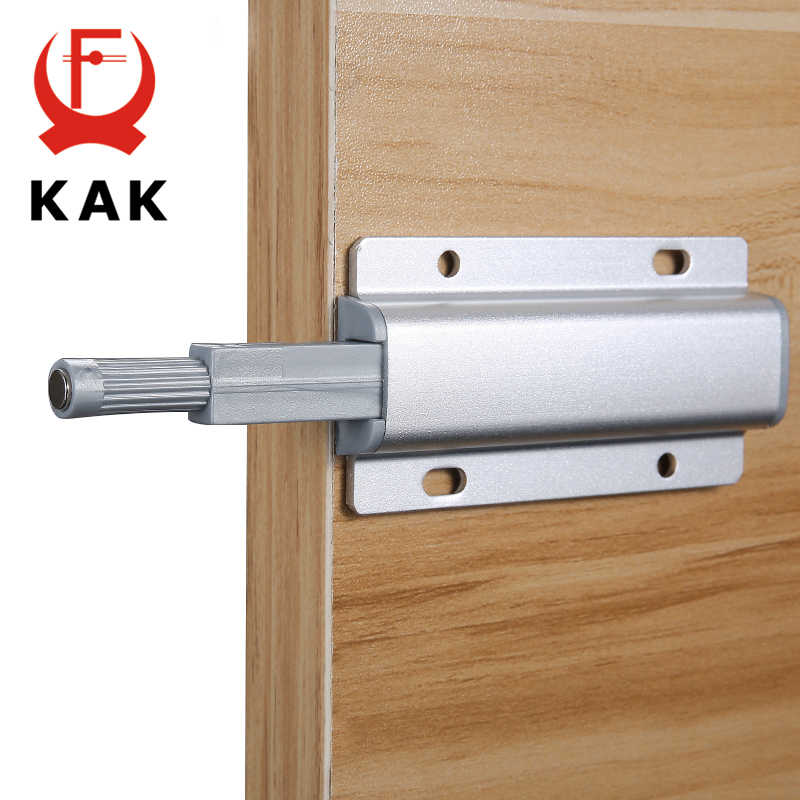 KAK Aluminum Alloy Push to Open Cabinet Catches Door Stops Magnetic Touch Stop Kitchen Invisible Cabinet Pulls Cabinet Hardware