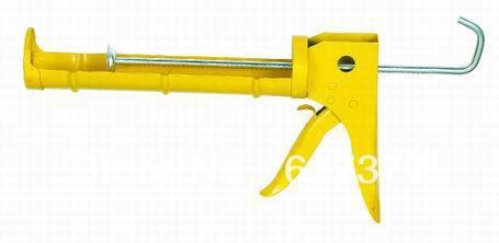 Retail DIY 310ml 10.3oz Half Barrel Ratchet Rod Cartridge Silicone Caulking Gun