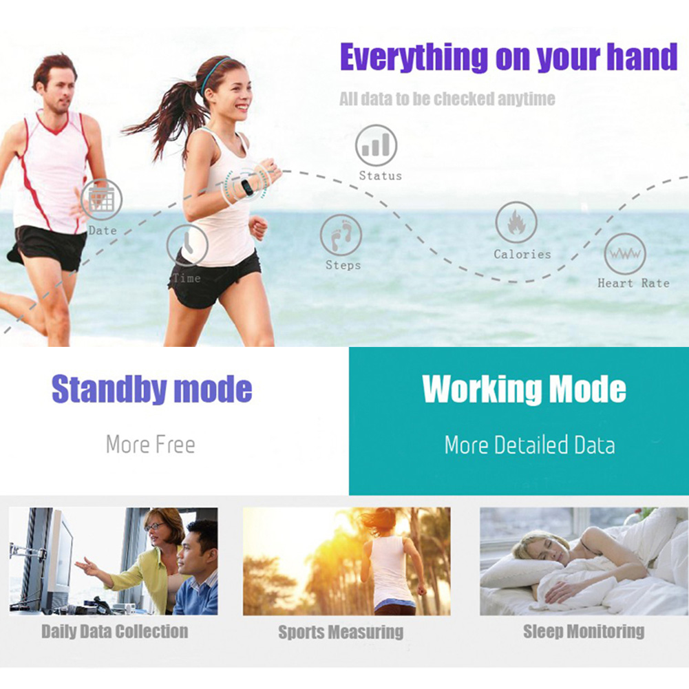 JW018 BT4.0 Smart Band Bracelet Heart Rate Monitor Activity Fitness Tracker Wristband for IOS Android Surpase Mi Band 1S