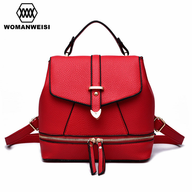 New Design Korean Fashion Mini Women Backpack 2017 Leather Backpacks For Teenage Girls Female Small School Bags For Teenagers
