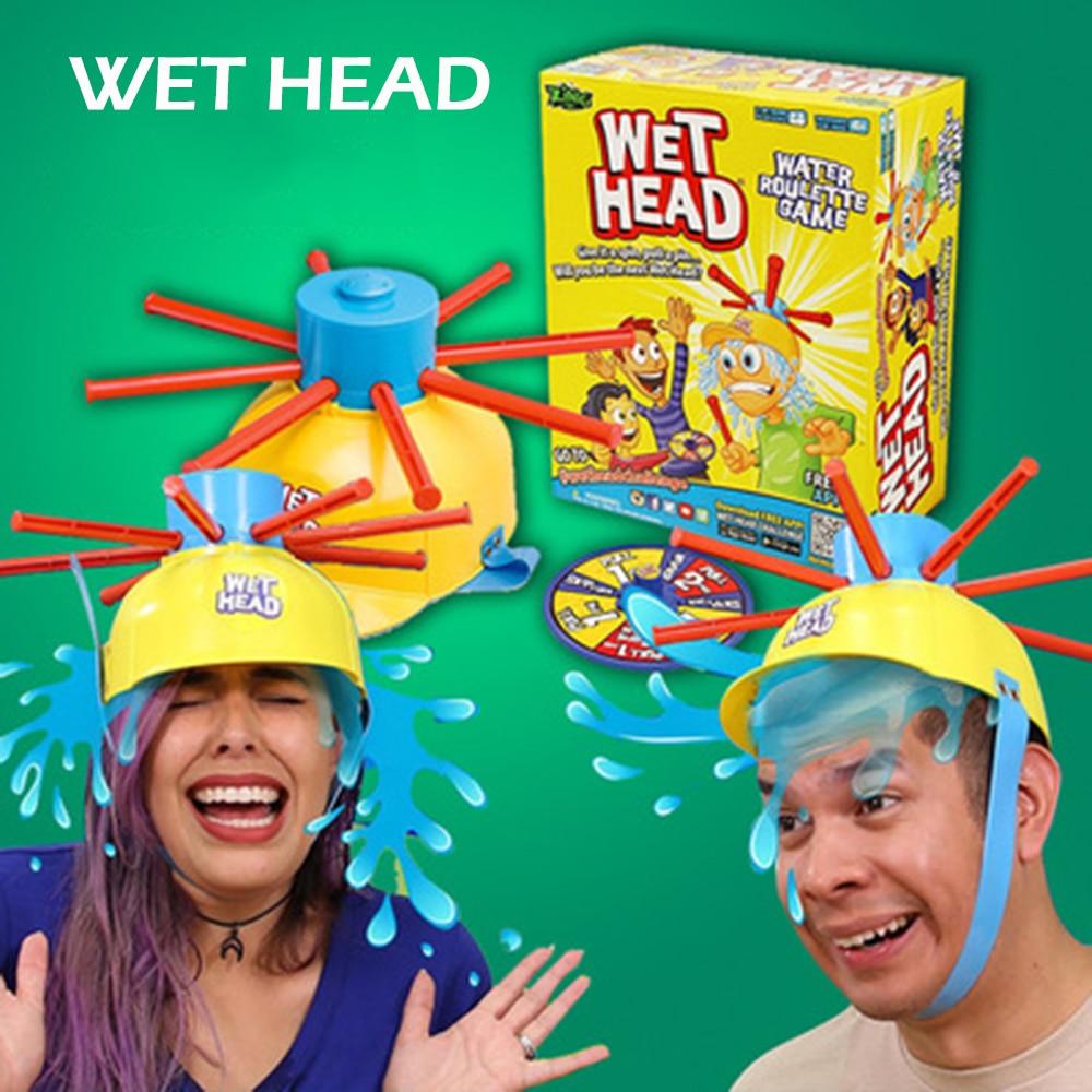 Wet Head Hat Game Wet Head challenge Water Roulette Family Game Fun Kid Challenge Hat Practical Jokes Toy
