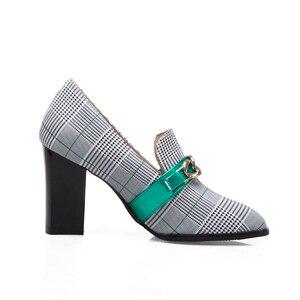 Image 3 - Sarairisトレンディビッグサイズの48分厚いかかとセクシーな女性のパンプスエレガントなオフィスの女性のハイヒールの女性の靴