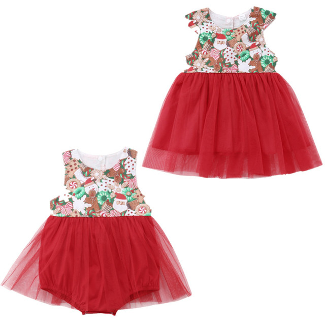 6c13902702c Christmas Family Matching Outfits Newborn Toddler Baby Girls Lace Tulle Romper  Jumpsuit Dress Outfit Clothes
