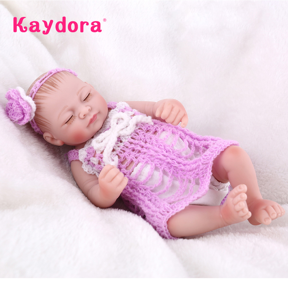 Kaydora 25 CM Handmade Full Body Silicone Reborn Baby Dolls 10 Lifelike Real Baby Dolls For Sale Dolls For Girls Christmas Gift