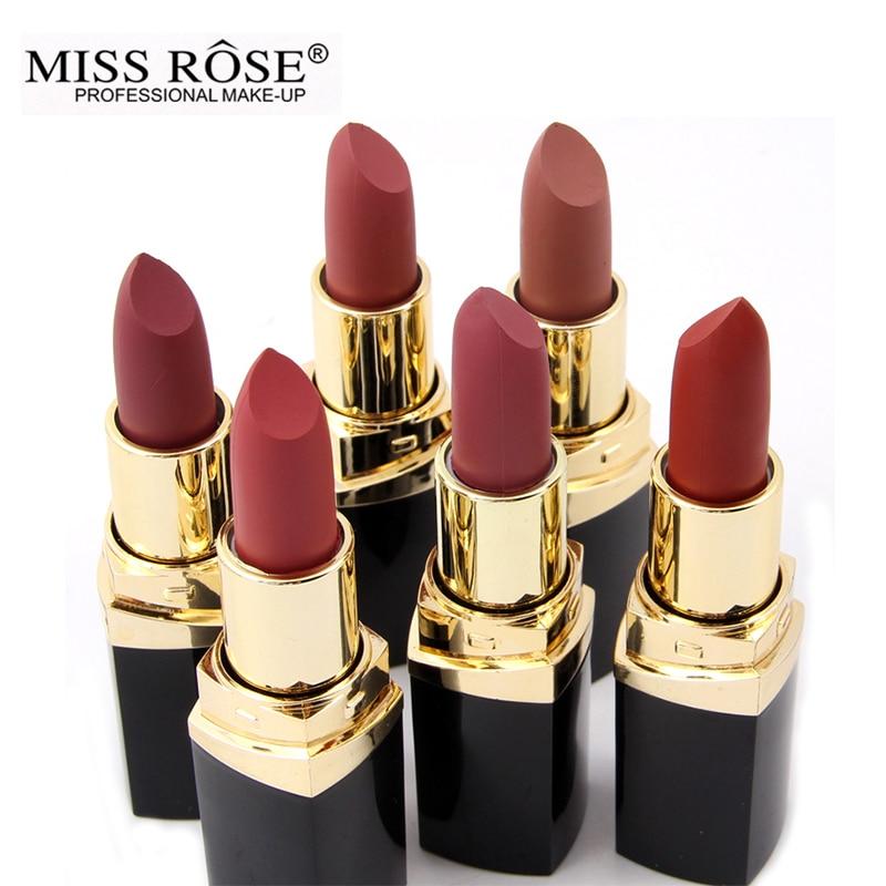 Miss Rose marca batom 24 cor Nude batom Matte de Veludo Fosco Batom Beleza Lábios Vermelhos de batom Cosméticos long-lasting maquiagem