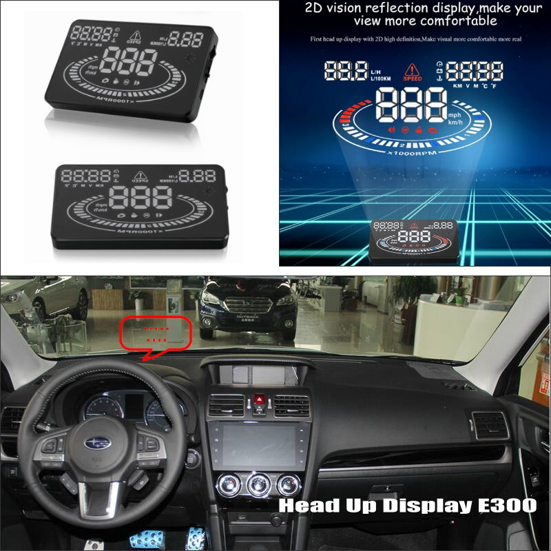 For Subaru Baja Forester Impreza - Car HUD Head Up Display - Reflect Related parameters on windshield to maintain best status tamiya car model luxuriously subaru impreza wrc2001 british rally 24250