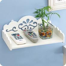Европейский стиль деревянный держатель дистанционного управления, настенные вешалки организации хранения стойки, DIY полка для ванной комнаты