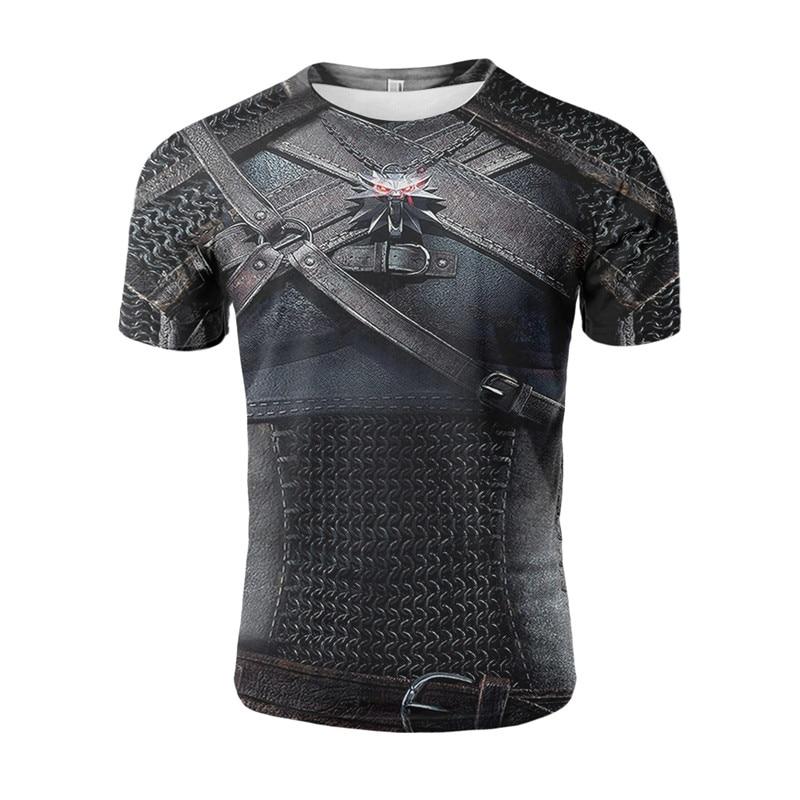 YELITE Battle Armor 3D Print T Shirt Ancient Roman Warrior Clothes Cool Hipster Men Summer Short Sleeve Vintage Style T-shirt