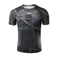 YELITE Battle Armor 3D Print T Shirt Ancient Roman Warrior Clothes Cool Hipster Men Summer Short Sleeve Vintage Style T-shirt