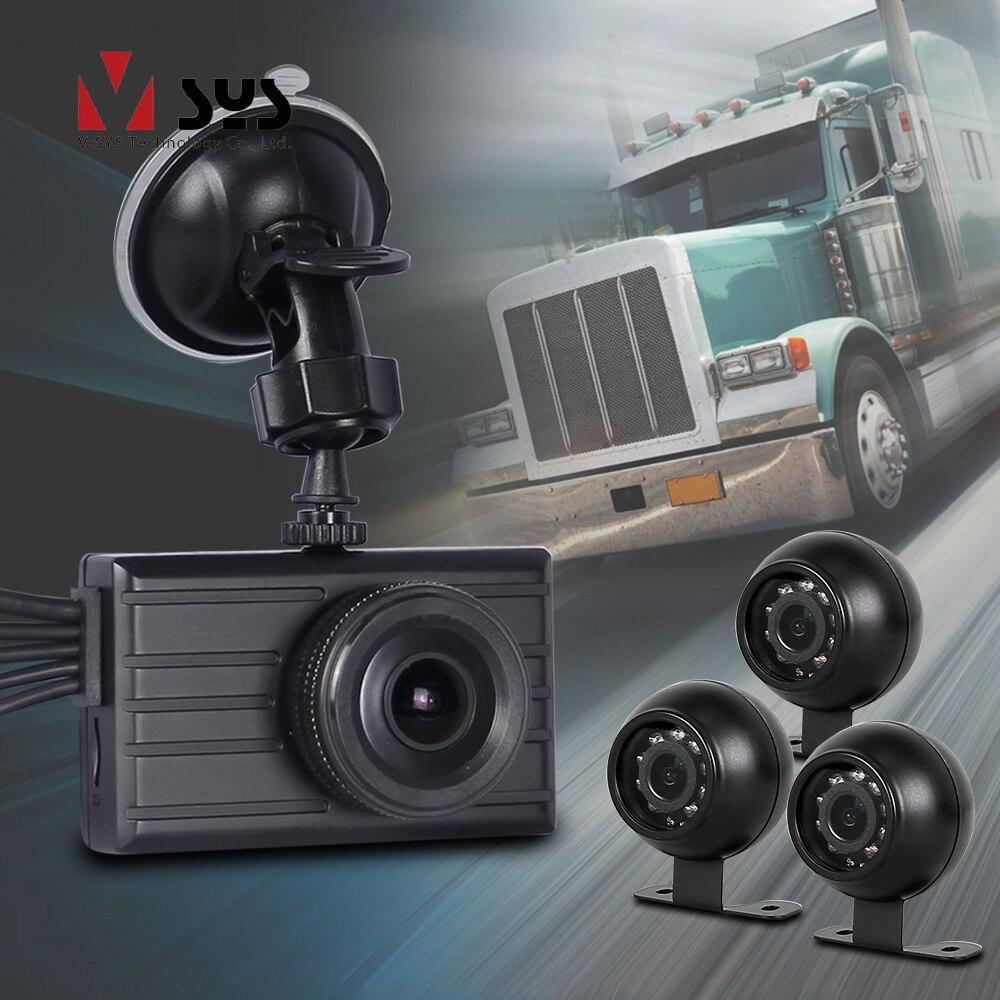 SYS 4 Câmeras 3.0 polegada Cam Traço DVR Carro 1080 P com Câmera de Segurança Retrovisor Gravador de Vídeo de Visão Noturna Infravermelha auto Registrator
