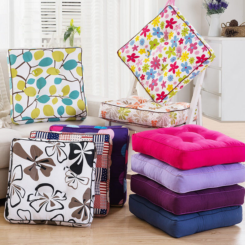 New Fashion Home Decor Chair Cushion Mat Kids Pad 20 Colors Thicken Seat Cushion Tatami Mat Square Floor Cushions Throw Pillows