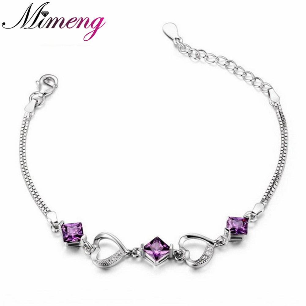 Hadiah Natal AAA 100% Sterling Silver 925 Perak Perhiasan Gelang   Gelang  Cinta Jantung Flash Gelang Gratis Pengiriman 878b4ed033