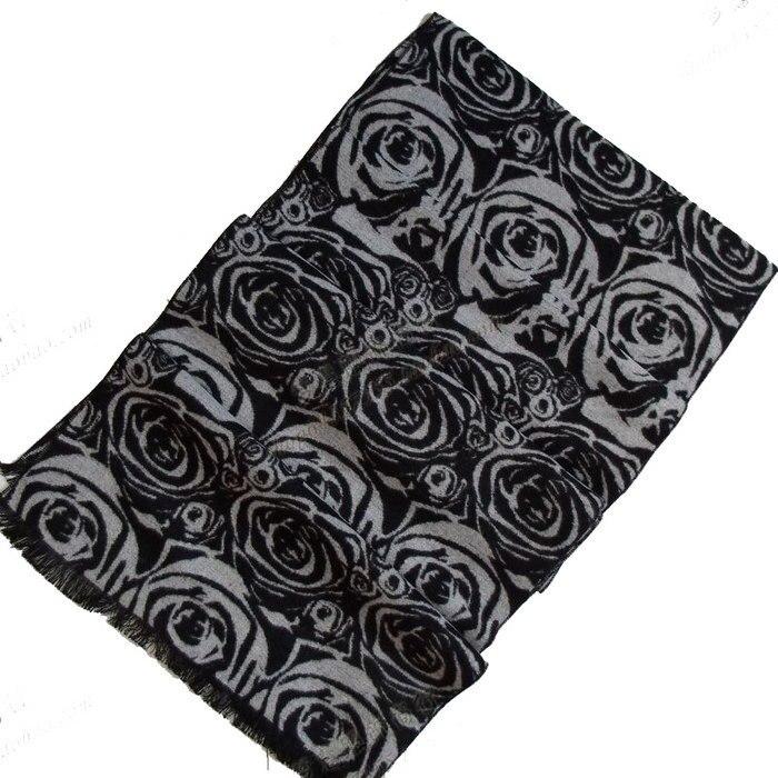 Универсальный шелковый шарф, шаль 180*30 см, Серый Черный Шелковый ворсистый шарф, зимний мужской большой клетчатый длинный шарф - Цвет: 21
