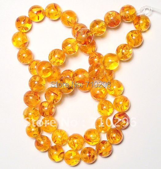Bulk Resin Jewelry Wholesale Price Yellow Ambe R Beads 8mm Resin Bead For