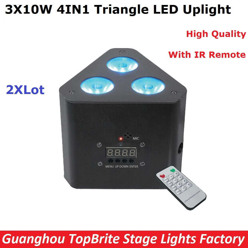 2XLot Factory Price Newest LED Par Lights 3X10W RGBW 4IN1 Mini LED Triangle Stage Effect Light 5/9 DMX Channels Fast Shipping
