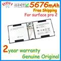 Genuino original 5676 mah nueva batería para microsoft surface pro tablet 2 64 gb 128 gb surface windows 8 pro tablet batería