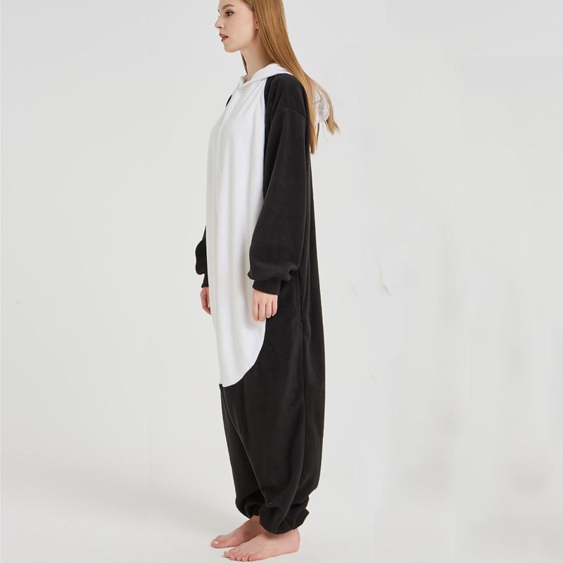 Lovely Panda Black Soft Adult Onesies Animal Pajamas Unisex Men Pyjamas Party Jumpsuit Warm Polar Fleece Winter Funny Kigurumi (5)