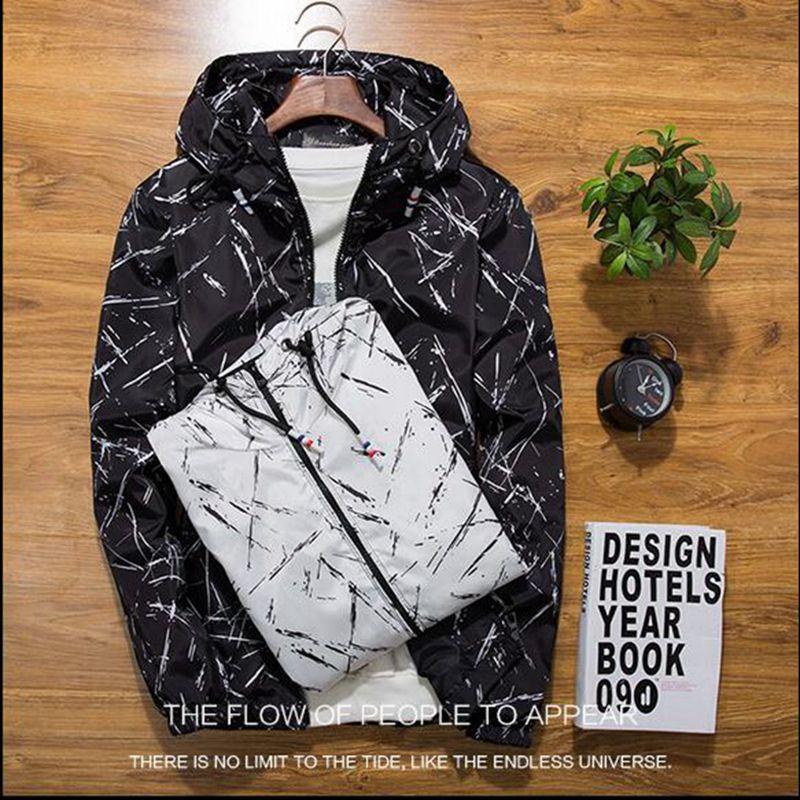 new Spring Autumn Mens Casual Camouflage Hoodie Jacket Men Waterproof Clothes Mens Windbreaker Coat Male Outwear XS-4XL