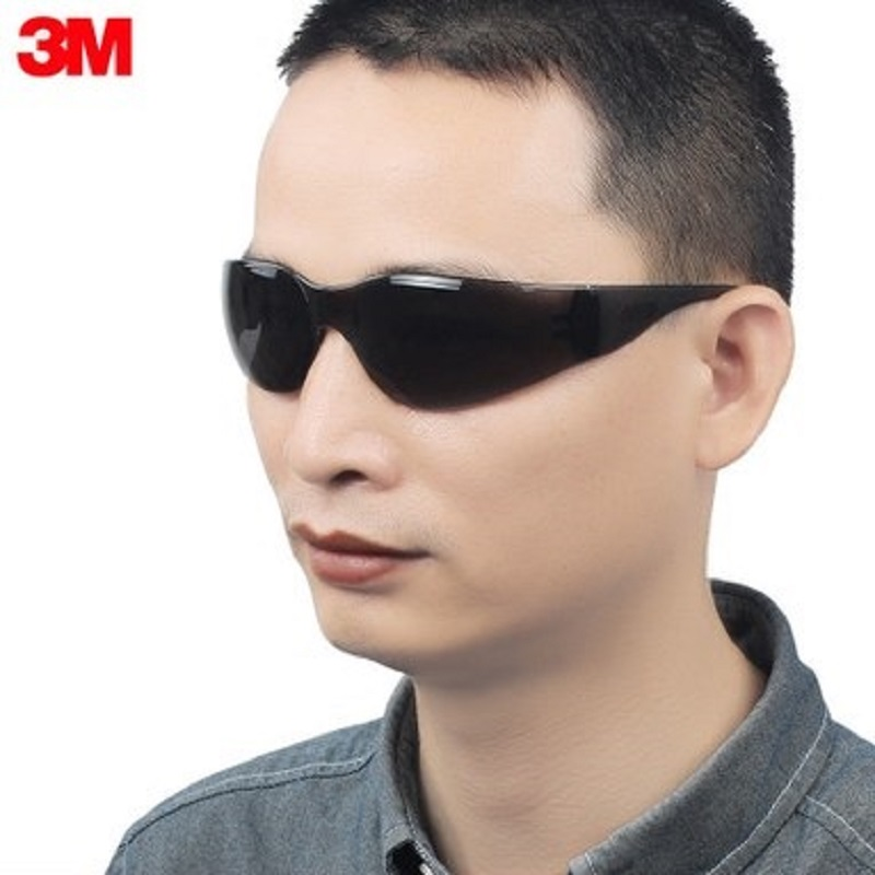 3M 11330 Safety Potective Grey Goggles Anti-UV Anti-Fog Shock Sunglasses Economy Working Eyes Protection Outdoor Light Glasses