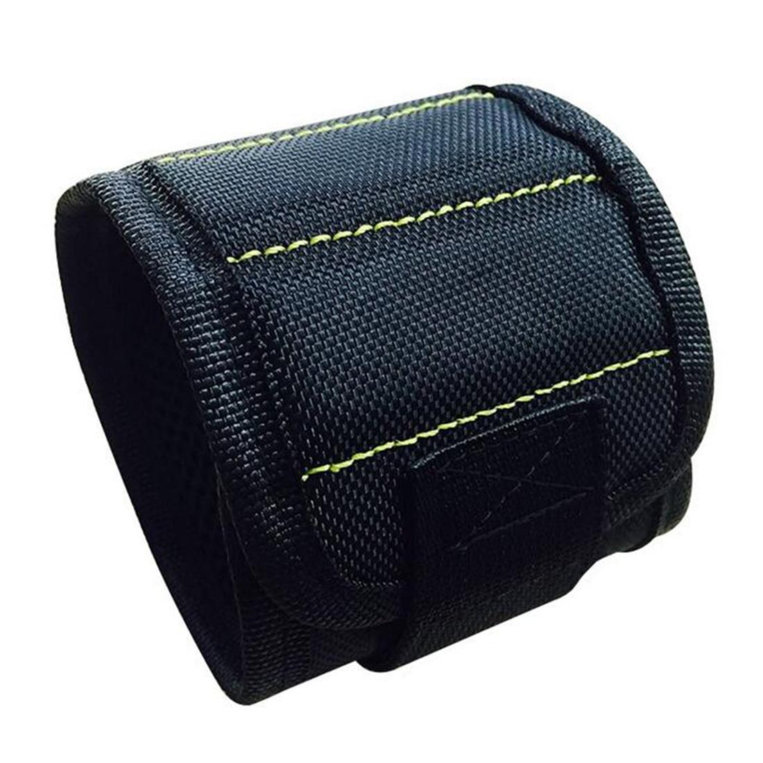 Holder Wristband Holding Hand Tool Bag Bracelet Belt 370mm Nylon Wrist Strong Magnetic Nail Screw Drill Bit Car Auto Repair Kit