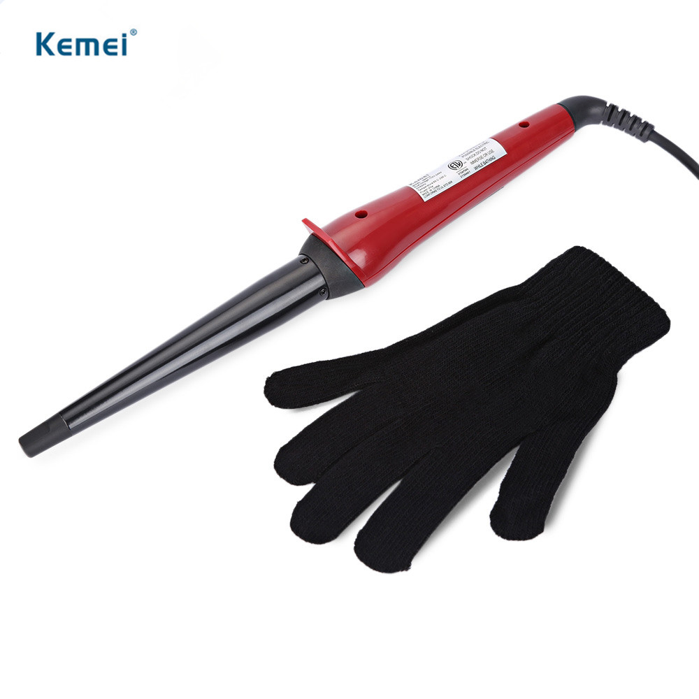 Kemei 55W LED Disply Hair Curler Professional Styling Tools Temperature Adjustable Curling Iron Roller Rapid Heating Hair Curler titanium plates hair straightener lcd display straightening iron mch fast heating curling iron flat iron salon styling tools