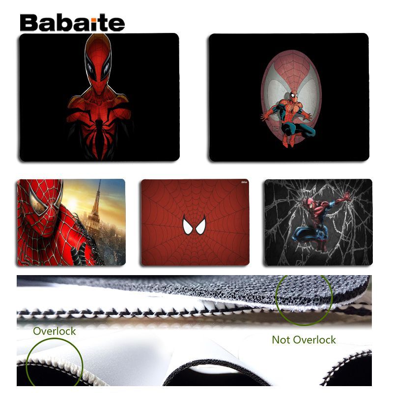 Babaite Personalized Cool Fashion Spider-Man Customized laptop Gaming mouse pad Size for 180x220x2mm and 250x290x2mm Mouse Pad