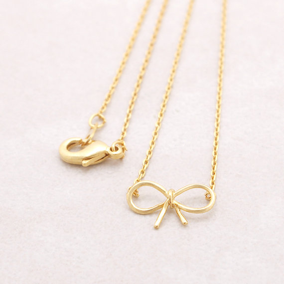 charm gold small f necklace disc four clover tiny il original pendant cutout products fullxfull leaf
