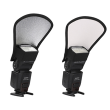 2-in-1 Silver White Camera Flash Softbox Photo Light Reflector Flash Diffuser For CanonNikonSonyYongnuo Photo Studio Accessory