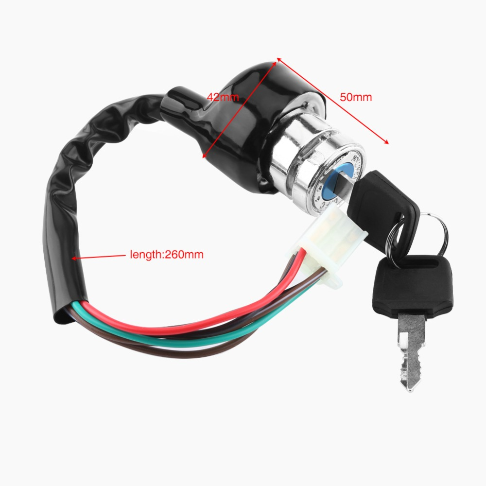 Atv,rv,boat & Other Vehicle Motorcycle Switch Lock 2 Gear Start Switch Ignition Switch Key Atv Lock Universal Electric Scooter Motorcycle Accessories