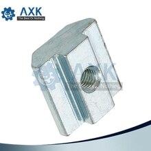 100pcs 50pcs T Sliding Nut block M3 M4 M5 for 2020 Aluminum Profile slot 6 Zinc Coated Plate Accessories