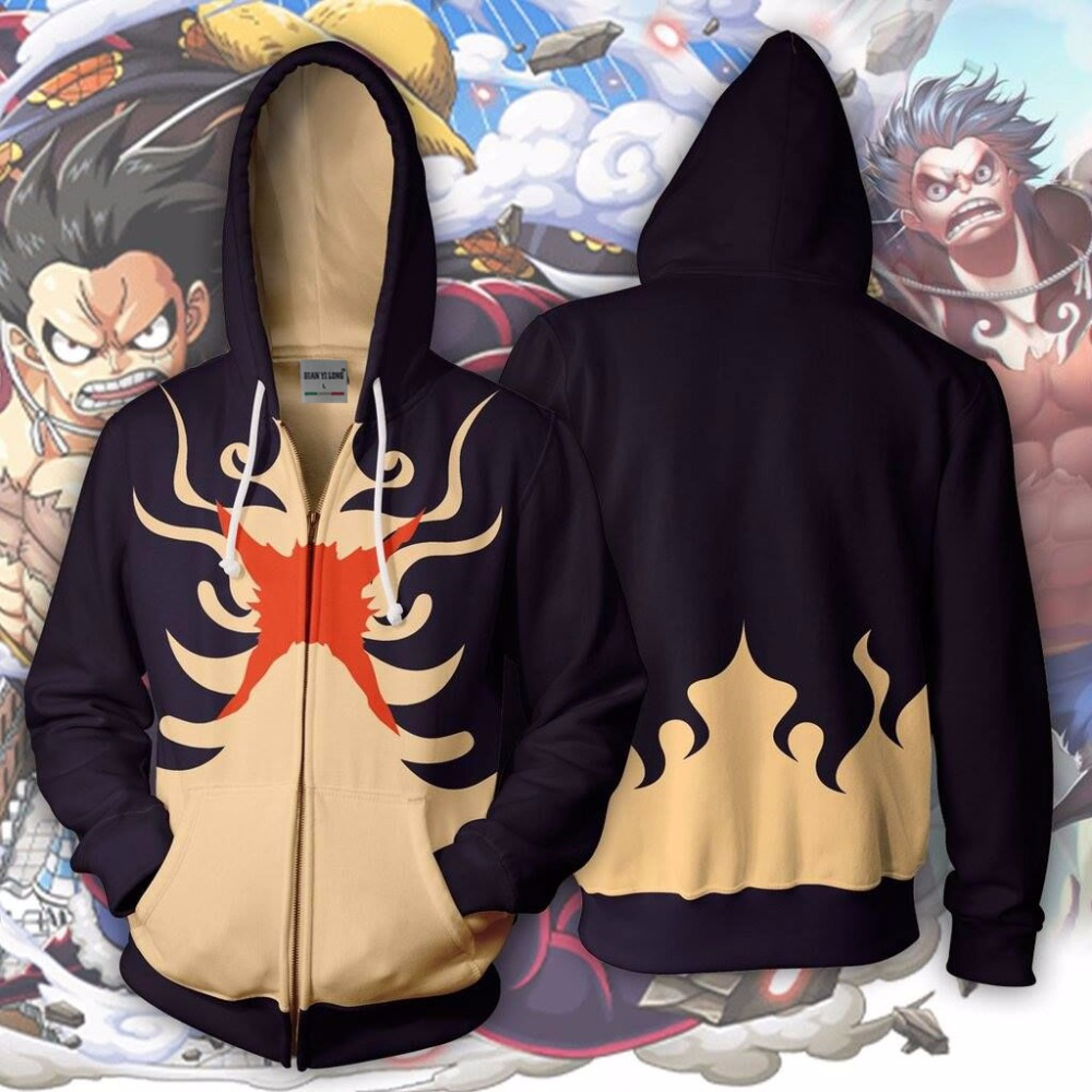 Men's Clothing Luffy 3d Printed Hoodies Tracksuit Zipper Hoodie Hooded Hip Hop Tops Shipping Skillful Manufacture Bianyilong 2018 New Men Hooded Monkey D