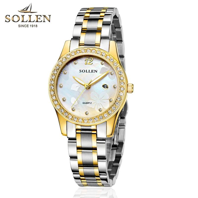 reloj mujer fashion Brand women watch luxury Rhinestone Dial Quartz Wristwatch Women full Stainless Steel Waterproof Dress watch