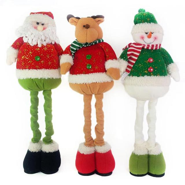 Christmas Decoration Ornament Cartoon Plush Dolls Door Greeters Santa Claus Snowman Deer with Adjustable Legs XMAS  sc 1 st  AliExpress.com & Christmas Decoration Ornament Cartoon Plush Dolls Door Greeters ...