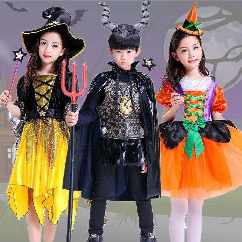 Filles Halloween Costume 2018 Halloween Robe Adolescente garçon Tenues Effrayant Monstre Pageant Robe Deguisement Halloween Enfant 8 10 12